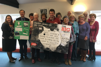 A group of Big Shift campaigners from Beulah Church, Rhiwbina, Cardiff