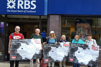 Campaigners taking the Big Shift to RBS Plymouth