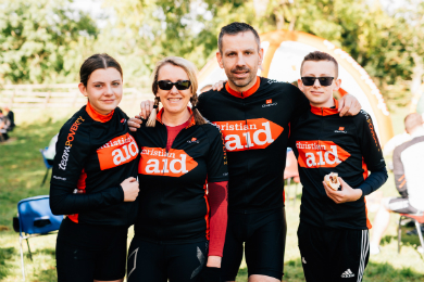 Gareth Dunlop and his family making the most of the Strangford Sportive
