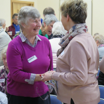 A chance to make new friends at Christian Aid's information evenings