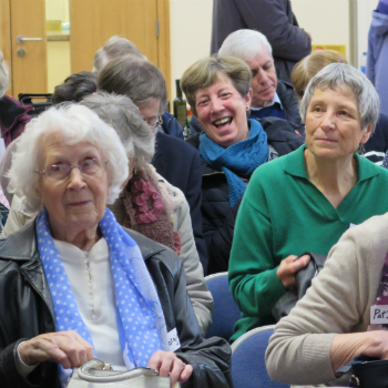 Supporters enjoying Christian Aid's information evenings