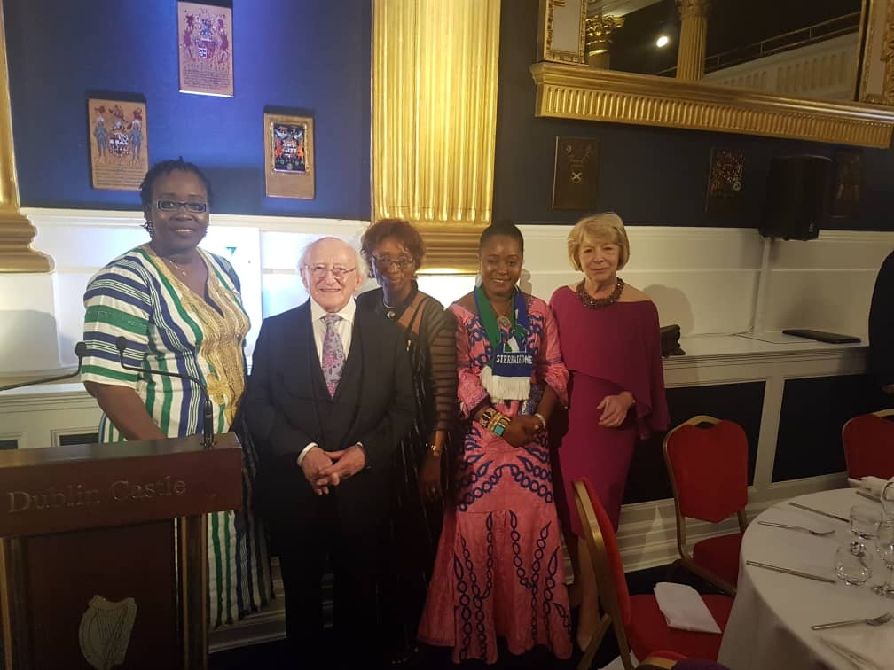 Three female MP visit Ireland with Christian Aid from Sierra Leone