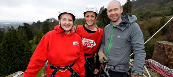Fifty Christian Aid adventurous supporters joined them for this exciting abseil down one of Belfast's most historic buildings in aid of Christian Aid Week May 13th – 19th 2018.