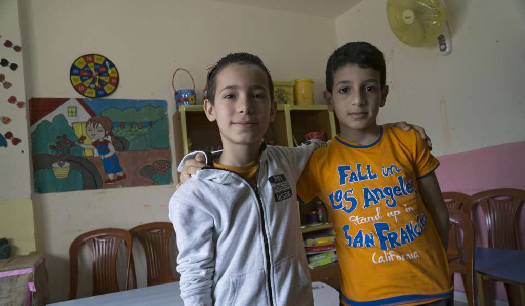 Hassan Hamoudeh and his cousin Wessam are among tens of thousands of Palestinian refugees who have fled Syria