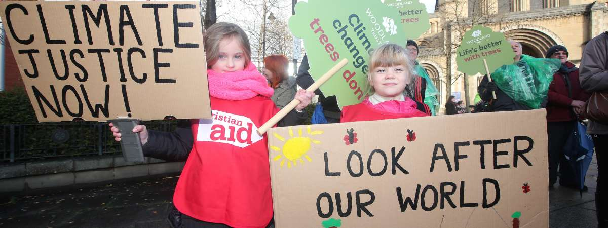 Christian Aid supporters support action on climate change