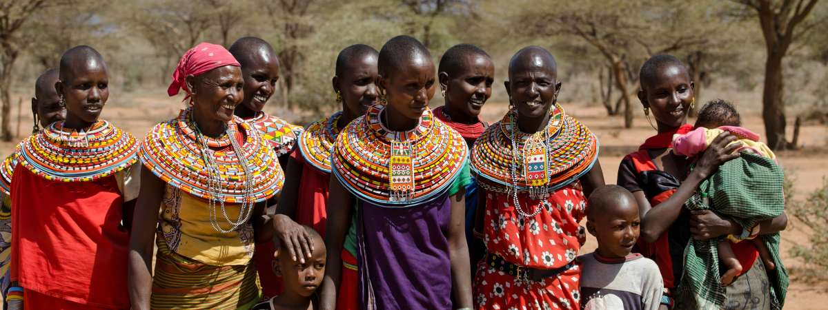 Women from a Samburu Tribe in Kenya