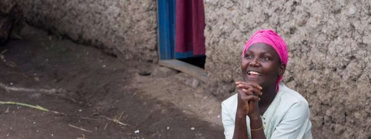 Lucienne was left disabled after conflict in DRC and was therefore a target for sexual violence