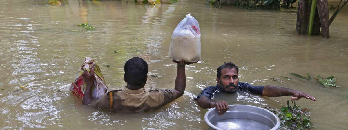 Over a million people so far have been affected by the unprecedented monsoon rains in Kerala, with the loss of 194 lives in the floods.