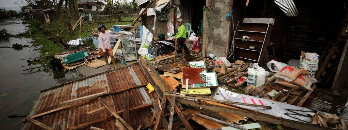 People across the Philippines have been hit by Typhoon Mangkhut, one of the strongest typhoons to hit the islands since Haiyan in 2013.