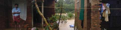 Unprecedented monsoon rains cause catastrophic floods and mudslides in Kerala state.