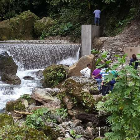 A small, community-owned dam and hydropower plant in Guatemala