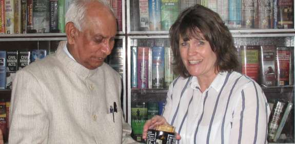 Christian Aid volunteer Dee Huddleston in India