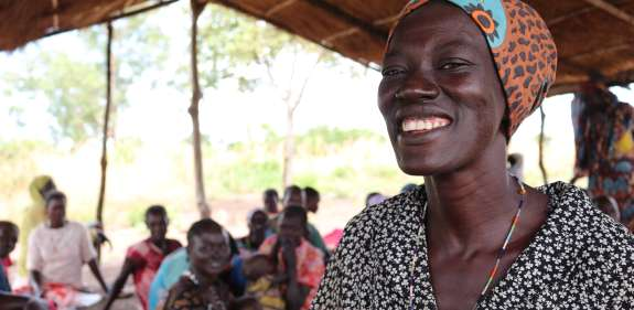 Achela Mario, part of the Mother to Mother group funded by UK Aid through Christian Aid in South Sudan