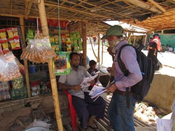 Distribution of Covid-19 health sheets in Cox's Bazar