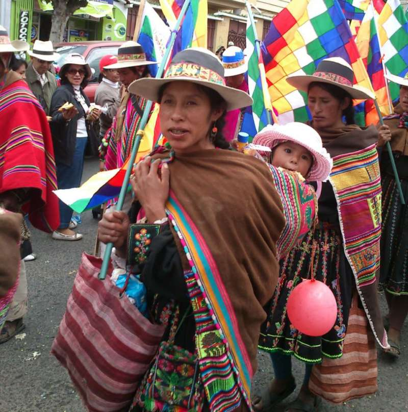 Bolivia women's protest
