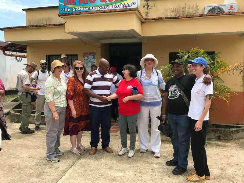 Irish government representatives visit communities in Colombia with Christian Aid Ireland