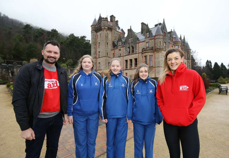 Will you join Leah McCourt and  Bangors Glenlola schoolgirls Grace, Amy and Cara as they abseil Belfast Castle for Christian Aid