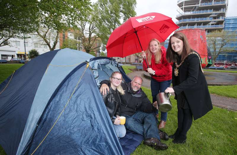 Lord Mayor supports Christian Aid Ireland's Solidarity Sleep-Out