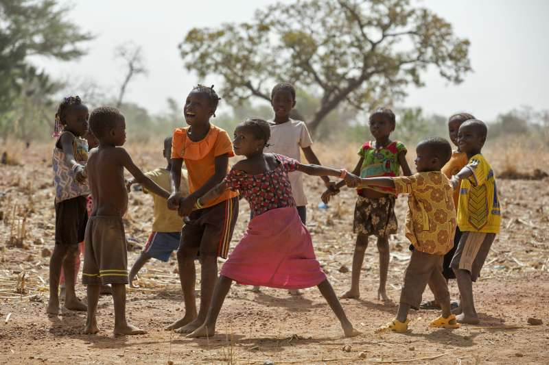 Children play outside in Ethiopia