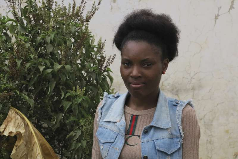 Benedita Fuani took part in the Girls Building Bridges project in Angola