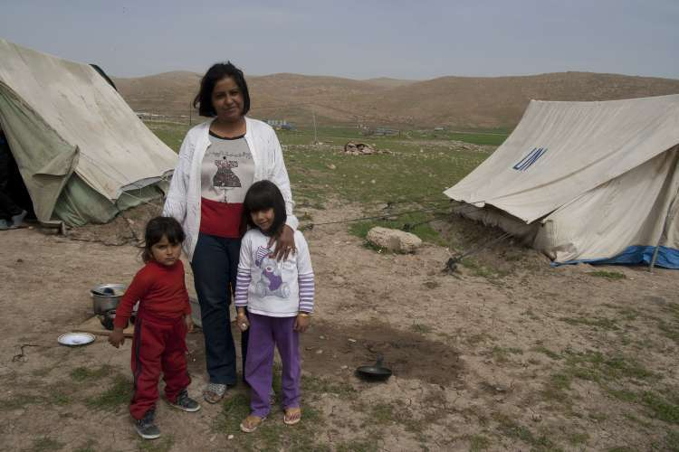 Zara and her children from Syria