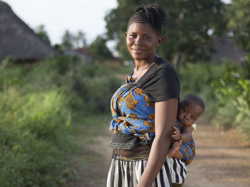 Tenneh in Sierra Leone with her baby boy