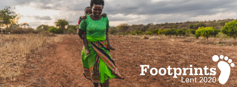 Journey through Lent with Christian Aid's series of reflections called Footprints