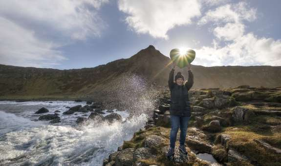 Show The Love, Giants Causeway, Northern Ireland, climate change