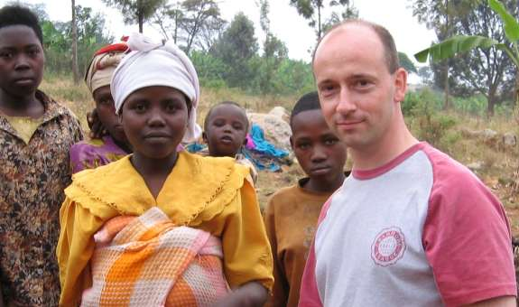 Tim Dunwoody and Therese, a woman he met on  a Christian Aid trip to Rwanda in 2005.