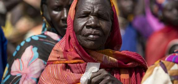 Woman praying, South Sudan
