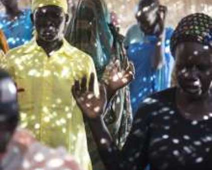 Congregation in South Sudan celebrating