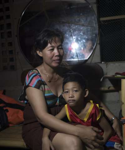Mary Ann and her young son Dave live in the Philippines