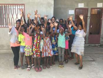 Members of the Girls Building Bridges programme in Angola