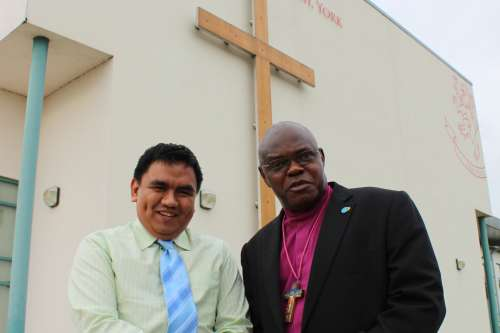 Archbishop Sentamu welcomes Filipino climate activist Voltaire Alferez to address the York Synod on the effects of climate change.