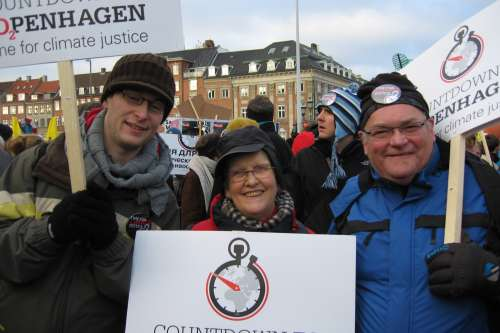 Supporters from Northern Ireland in Copenhagen for the UN climate change talks