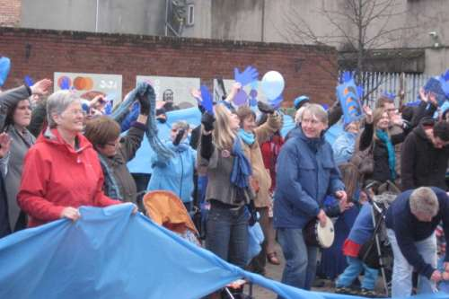 Campaigners at the Wave climate March in 2009 image