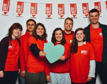 Christian Aid volunteers at the Catalyst festival