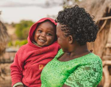 Faith Muvili and her son in Kenya