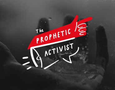 Prophetic Activist logo on dark background