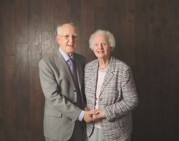 Albert Smallwoods and wife Vivian on his 80th birthday