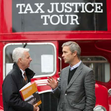 Christian Aid Ireland Tax bus tour