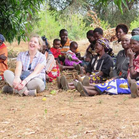 Rosamond Bennett visiting Christian Aid partners in Kenya