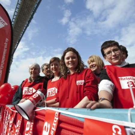 Supporters fundraising for Christian Aid