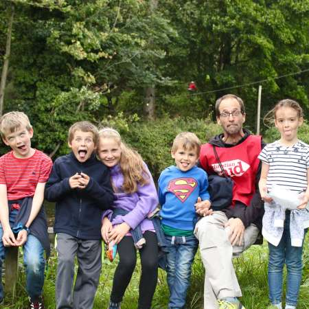 Young family enjoys Christian Aid Ireland's Laganside Walk fundraising event