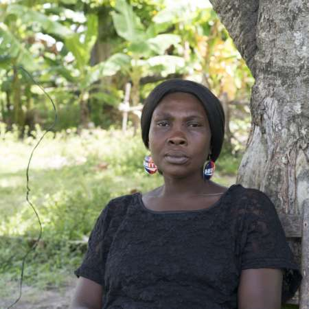 With hurricane season set to arrive in June, Jocelyne and thousands of other displaced people are in grave danger