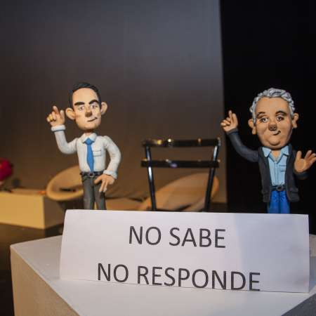 Colombian Presidential candidates represented as a mannequins at a recent event 'Presidential Forum 2018'.