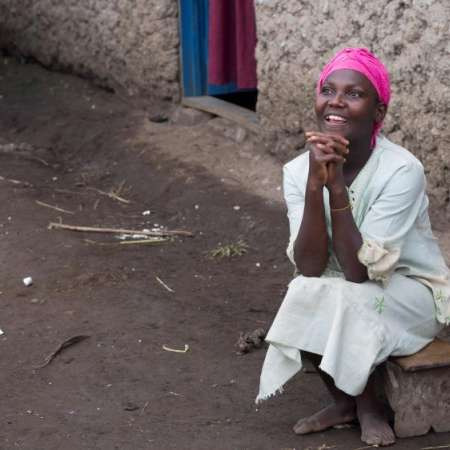 Lucienne was left disabled after conflict in DRC, she was therefore a potential target for sexual violence