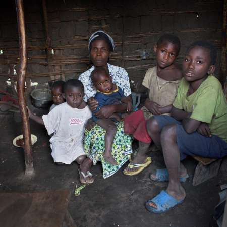 A rape survior and her children in DRC.