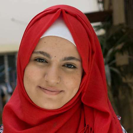 Naziha was born in a camp for Palestinian refugees 14 years ago