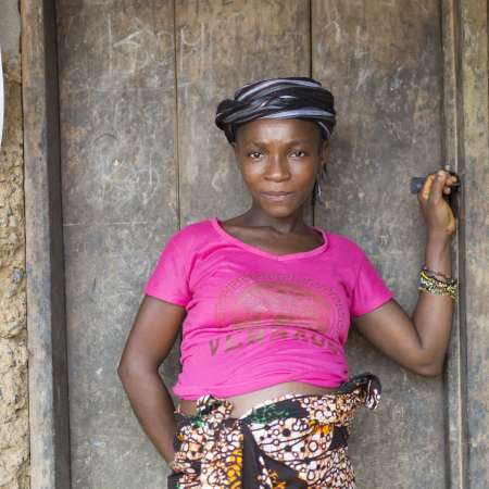 Jebbeh is heavily pregnant and prays she'll give birth safely in Sierra Leone